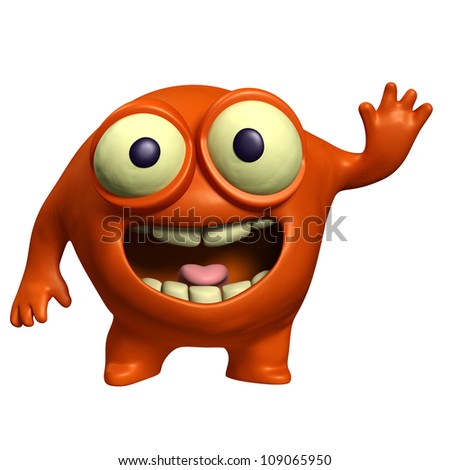 red alien - stock photo