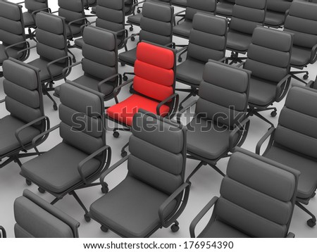 Red and black chairs
