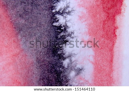 Red and Black Watercolor Background 10 - stock photo