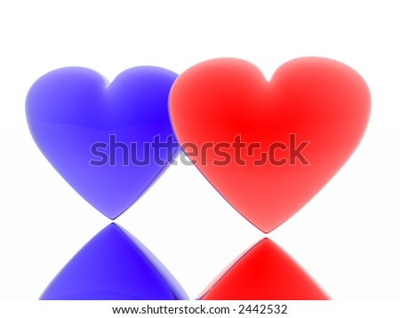 Red and blue heart (see more in my portfolio)