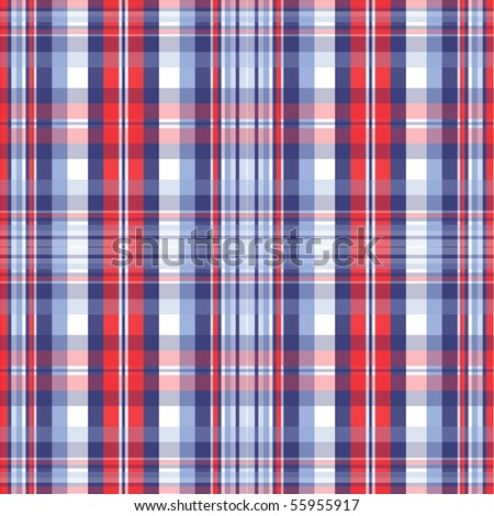Red and Blue Plaid - stock photo
