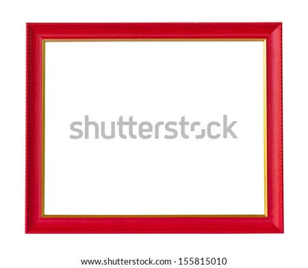 red and gold wooden picture frame - stock photo