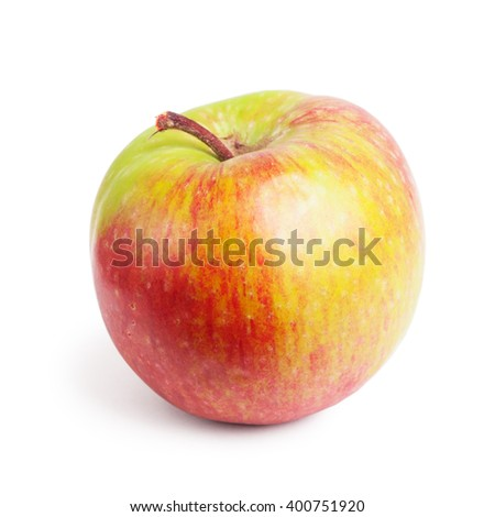 Red and green apple isolated on white background - stock photo