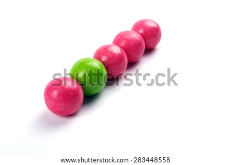 red and green bubble gums - stock photo