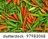 Red and green chili peppers - stock photo