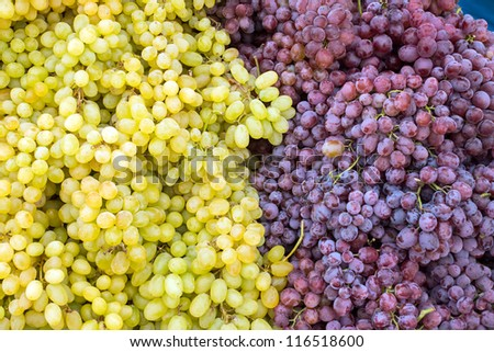 Red and green grapes - stock photo
