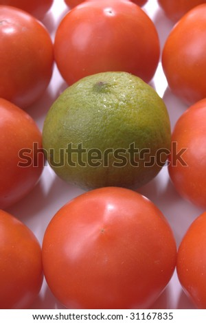 red and green should never been seen - stock photo