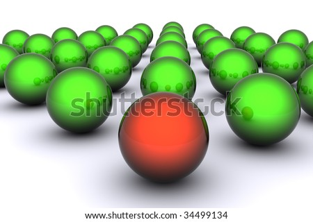 red and green spheres, glossy spheres on white background, marble balls in a row, two color glossy spheres, bunch of reflective spheres, shiny red and green balls