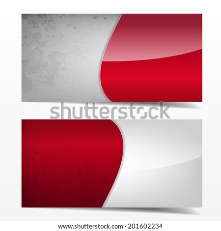Red and grey grunge template. Great use for business cards, backgrounds or banners. (Raster)