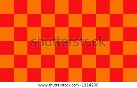 Red And Orange Checkerboard - stock photo