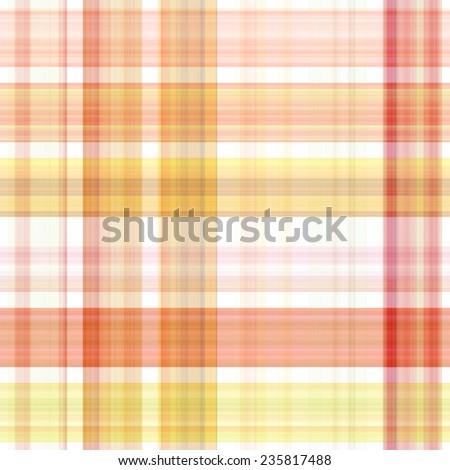 red and orange Tartan seamless background  - stock photo