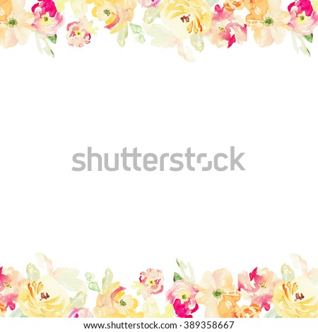 Blue purple gold abstract background design template royalty free - Orange Flower Border Stock Images Royalty Free Images