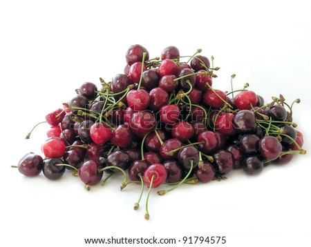 red and purple cherry