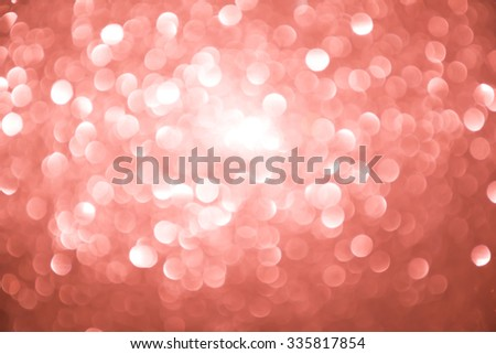 red and silver Sparkling Lights Festive background with texture. Abstract Christmas twinkled bright background with bokeh defocused lights and Falling stars. Winter background. Card or invitation. - stock photo