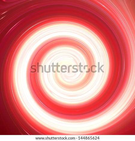 Red and white abstract spiral swirl - stock photo