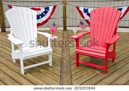red adirondack chairs wood 2