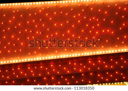 red and white bulbs marquee WS - stock photo