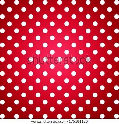 Red White Dotted Background Advertising Poster Stock Illustration