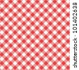 Red and white gingham cloth background with fabric texture ( for seamless pattern and vector EPS see image 101402635 )  - stock photo