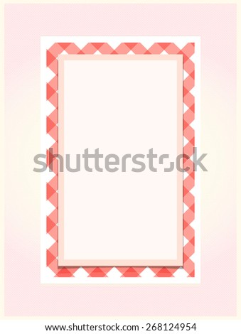 Red and white Gingham pattern frame - stock photo
