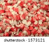 Red and White Salt Water Taffy - stock photo
