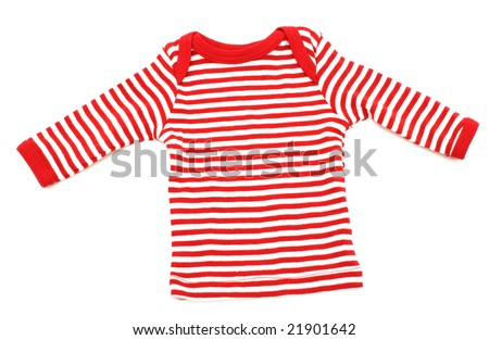 red and white striped t-shirt - stock photo
