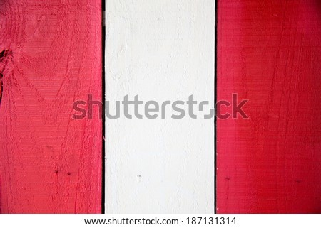 red and white wood - stock photo