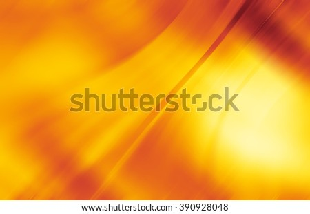 Red and yellow background of abstract warm curves - stock photo