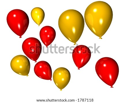 red and yellow balloons