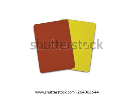 Red and Yellow Referee Cards (includes clipping path) - stock photo