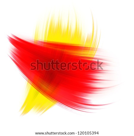 red and yellow texture isolated on white background - stock photo