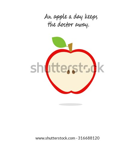 Red Apple - An apple a day keeps the doctor away. - stock photo