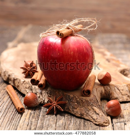 red apple and spice