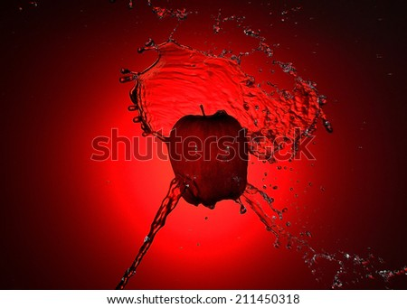 Red Apple for fun - stock photo