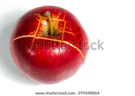 Red apple is popular fruit with sweet taste and crunchy fresh.