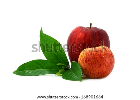Red apple isolate on white background.