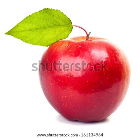 Red apple isolated. - stock photo