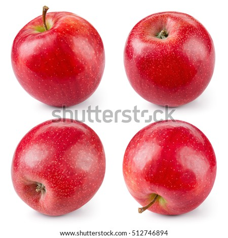Red apple isolated on white. Collection. With clipping path.