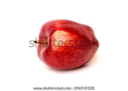 Red apple on a white background - stock photo