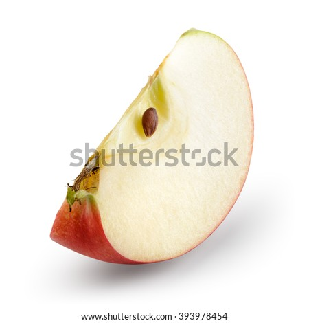 Red apple. Piece isolated on white. With clipping path.