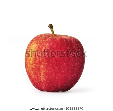 Red apple to isolate with white background