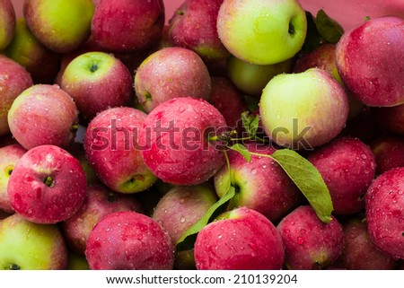 Red Apples Background - stock photo
