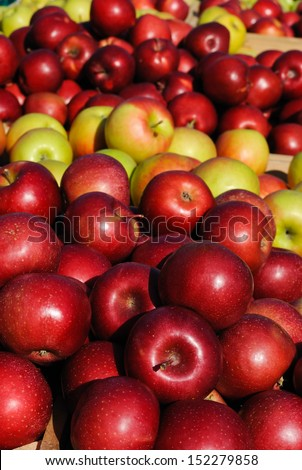 Red Apples for Sale at the Farmers Market - stock photo