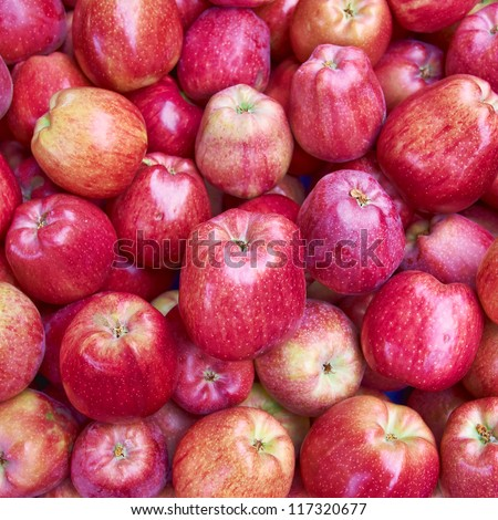 red apples for sale, natural background