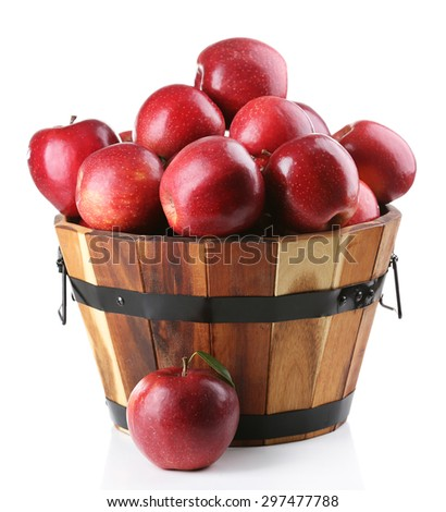Red apples isolate on white