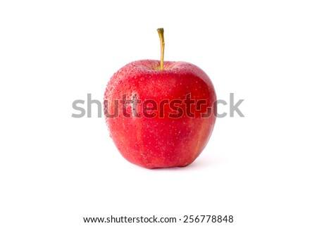 Red apples isolated - stock photo