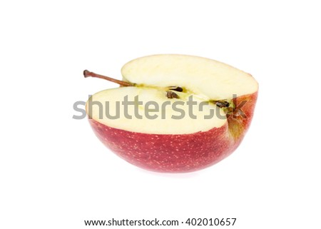 red apples Isolated on a white background.