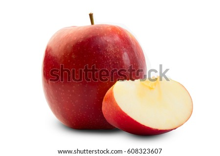 red apple slice. red apples slice on white background isolated apple