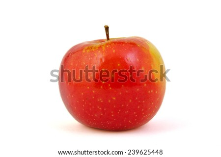 Red Arianne apple on white background