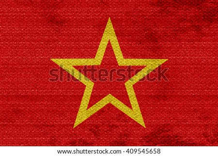 Red army flag - stock photo